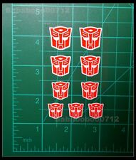 New Autobotos Symbol red White border stickers for transformers instock