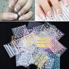 10 sheets/set 3D Nail Art Stickers Self Adhesive Flower Stickers DIY Decoration