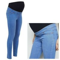 Maternity New Look Over Bump Jeggings Jeans Blue Sizes 8 - 16