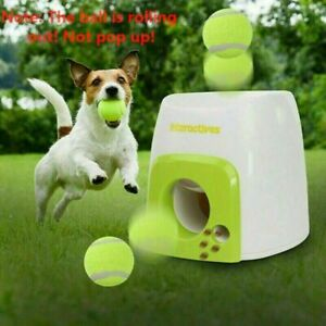 Automatic Ball Launcher Dog Throwing Machine Toy Interactive Tennis Pets Thrower