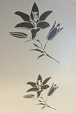 Lily Flowers A4 Mylar Reusable Stencil Airbrush Painting Art Craft