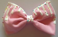 Rose pastel égouttement fonte Sprinkles Hair Bow Kawaii Fairy Kei sweet lolita