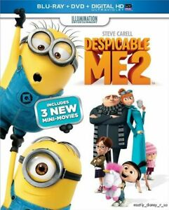 Sealed Despicable Me 2 Blu-Ray DVD and Digital HD Minions Gru Target Exclusive