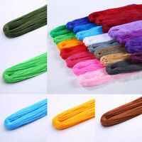New0.1cm Knot Satin Nylon Braided Cord Macrame Beads Jewelry DIY Cord Solid