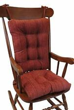 Gripper Non-Slip Polar Jumbo Rocking Chair Cushions Garnet Polyester Spot Clean