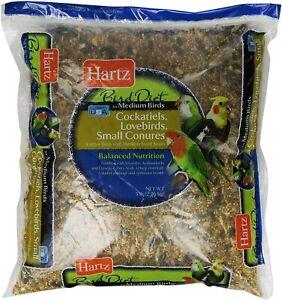 Hartz Cockatiel, Lovebird, Small Conure Medium Bird Food -5Lb
