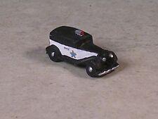 Z Scale Black and White 1938 Ford Sedan Police Car