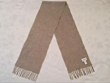 VINTAGE AUTHENTIC CHARTER CLUB CASHMERE SOLID GRAY LONG MEN'S FRINGE SCARF