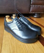 HIGHLANDER Men's Black Leather Golf Shoes Oxfords Eur Sz 45 Wide Made In Germany