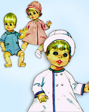 1960s Vintage Simplicity Sewing Pattern 7931 Cute 14 Inch Baby Doll Clothes ORIG