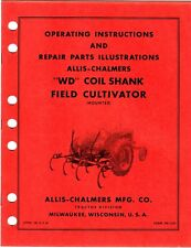 Allis Chalmers WD Coil Shank Field Cultivator Operating & Parts Manual kpc1
