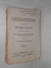 IL DECAMERON Giovanni Boccaccio Editore Pagnoni 1875 Volume Secondo testamento