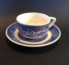 Blue Willow Cup And Saucer - Willow Ware Royal China - Blue White - USA Multiple