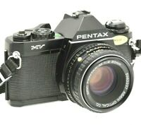 Pentax MV Film Camera & Pentax-M 50mm F2 Lens - Working - New Batteries