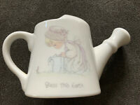 PRECIOUS MOMENTS WATERING CAN Bless This Earth Samuel Butcher 1989 Enesco