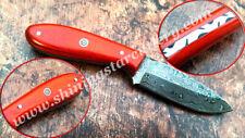 Custom Hand Forged  Damascus Steel Skinner Hunting Knife W/Sheath