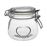 Heart Design Glass Storage / Food Preserve Preserving Jar, 500ml