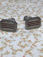 2-1950's Art Deco Vintage Antique Chrome Redline Drawer Pulls (2)
