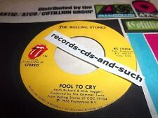 THE ROLLING STONES-FOOL TO CRY/HOT STUFF-RS-19304-VG+ VINYL RECORD 45