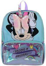 "MINNIE MOUSE DISNEY Girls 16"" Full-Size Multi-Pocket School Travel Backpack"