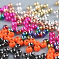 25 Pcs Fly Tying Beads Tungsten Beads Nymph Head Ball 2/2.4/2.8/3.3/3.8/4.6mm F4