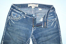 GORGEOUS Laguna Beach Jeans ND1010P Bold Stitching Long Leg Sz 27 W-30 Inseam-35