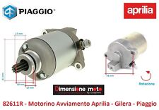 """82611R - Motorino Avviamento Completo """"RMS"""" per PIAGGIO Vespa S 125 IE dal 2009"""