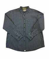 Camel Active regular fit cotton shirt in grey and blue check XXL