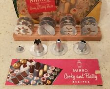 Vintage Mirro Cooky Cookie Pastry Press No.358-AM 12 Plates 3 Tips Box & Recipes