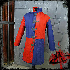 Medieval Reenactment Gambeson Armour Fancy Design Red & Blue Color New Jacket