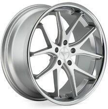 20x9/10.5 Ferrada FR2 5x115 +15 Machine Silver Wheels Fits Chrysler Dodge Magnum