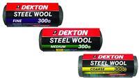 Dekton 300g Steel Wire Wool Fine Medium Or Coarse For Rust Brass Copper Metal