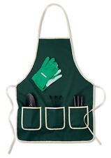 OLGP 5 Piece Indoor/Outdoor Gardening Tools Set with Apron Plant Pots Herbs