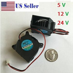 5V 12V 24V 40mm Blower Fan 4020 40mmx20mm Turbo Cooling 3D Printer  2pin