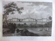 1794 Print; Rare View Fairfield Moravian Church & settlement, Droylsden, Manch.