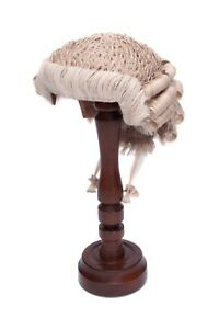 Traditional Barristers Wig - Grey/White - Handmade in U.K