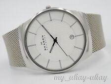 SKAGEN 780XLSS Silver Dial All Stainless Steel Mesh Band Men's Date Watch