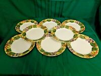 J2 - Corning Ware Corelle Tuscan Vine Luncheon Plates Lot of 8
