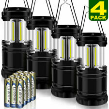 4 Pcs LED Camping Lantern, Portable Outdoor COB Camping Lights for Emergency