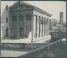 Italia, Roma. Tempio della Fortuna Virile, ca. 1905  vintage silver print. Italy