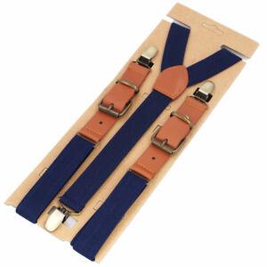 Men Suspender New Fashion 3 Clip-On Y-Back Elastic Braces Men's Pants Suspenders