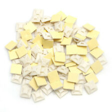 100Pcs/Bag White Self Adhesive Cable Tie Wire Zip Clamp Mount Clip Holder Base