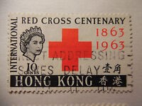 Hong Kong Stamp International Red Cross 1863 1963 10 Cents O Used 81-2B5