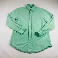 Vineyard Vines Slim Fit Tucker Shirt L/S Light Green Whale Logo Mens Sz Medium