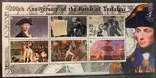 SOLOMON ISLANDS 2005 BICENT OF BATTLE OF TRAFALGAR (1ST ISSUE) SG1105-10 MNH M/S