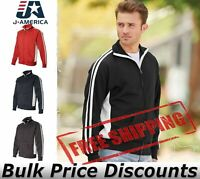 J America Mens Blank Vintage Sport Track Jacket 8858 up to 3XL