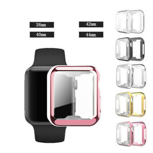 For Apple Watch 1 2 3 4 5 6 SE Screen Protector HARD Case Cover Tempered Glass