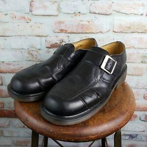 Dr Martens men's US12/UK11 8355 shoes black leather Monk Strap Fisherman UK made