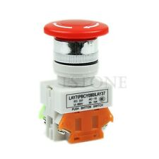 Emergency High Quality Stop Switch PushButton Mushroom Push Button New