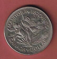 1970 CANADA NICKLE DOLLAR COIN -  $1.00 CANADIAN - MANITOBA  1870-1970